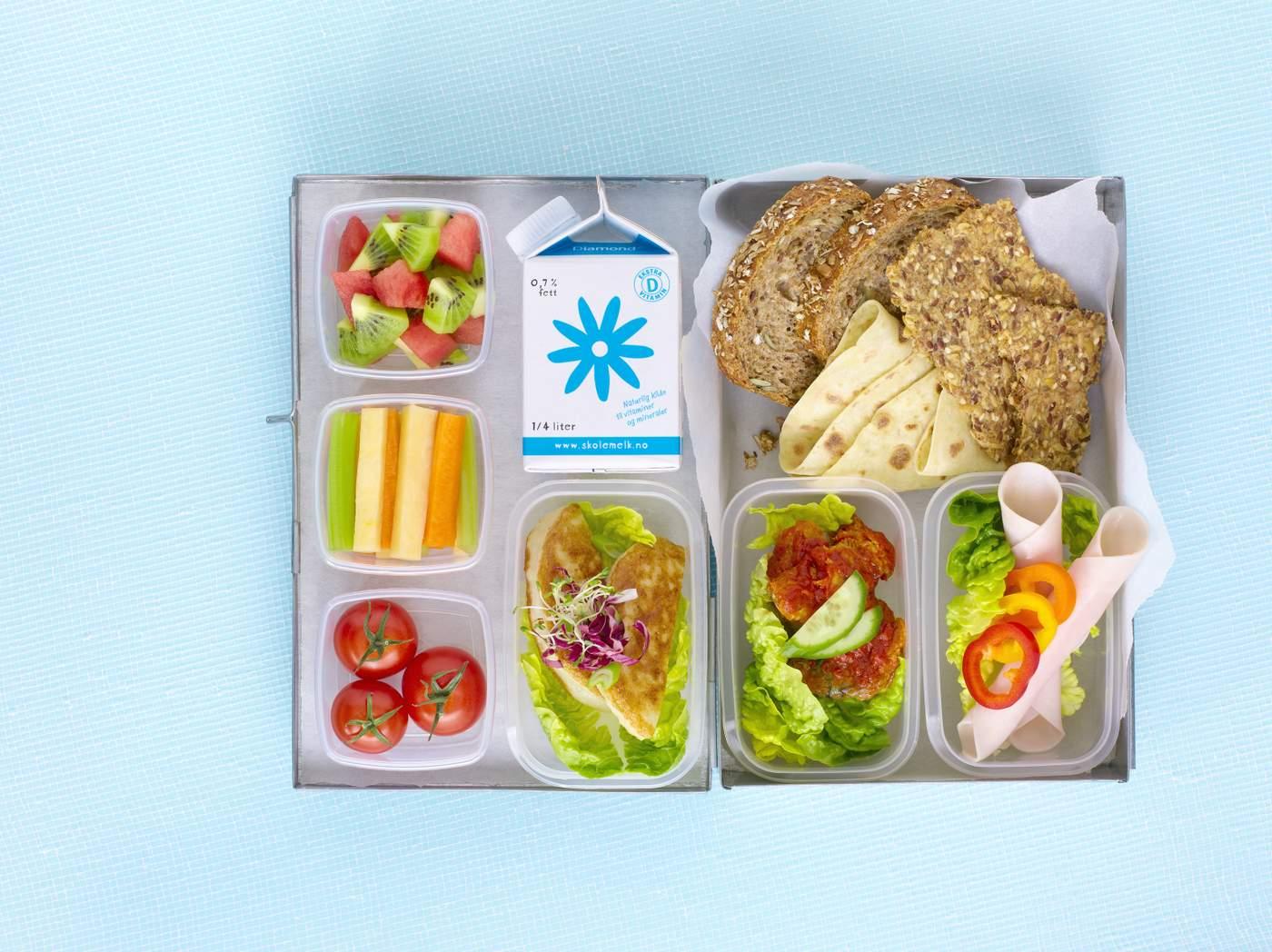 sunn lunsj på skolen