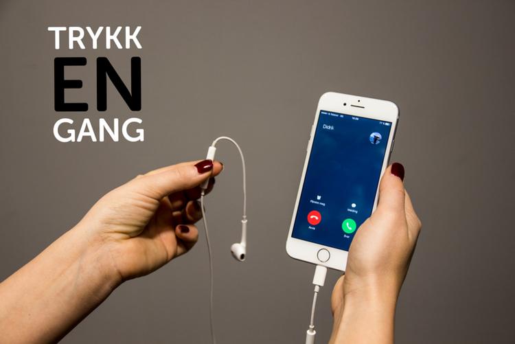 ta opp samtale iphone